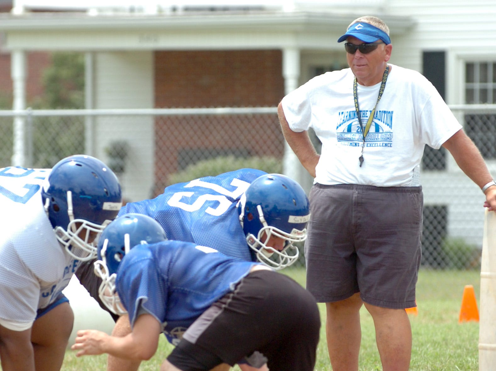 Chillicothe coach Ron Hinton oversees a Cavaliers practice in 2013.