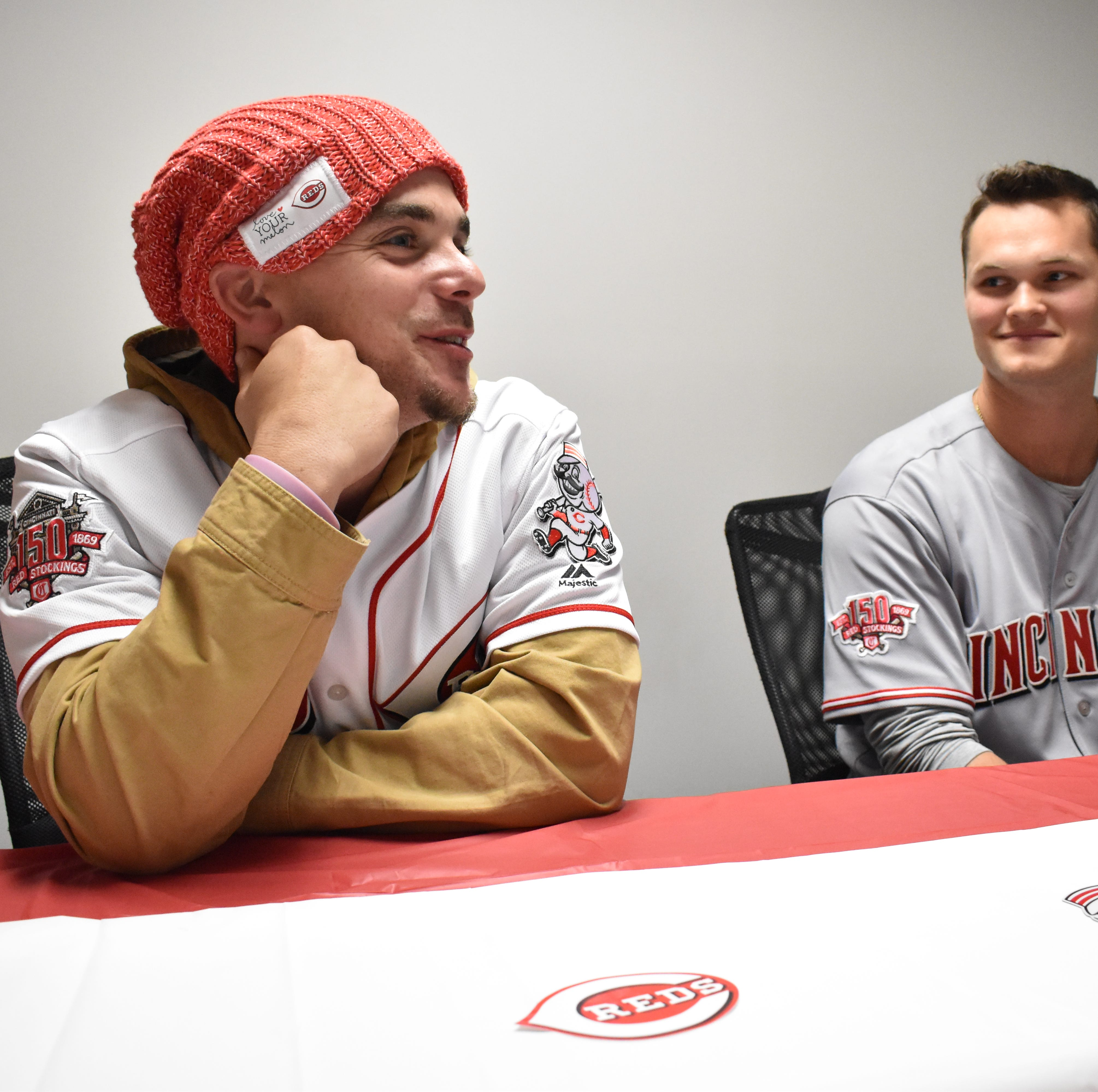 Reds players kickoff caravan tour by stopping through Chillicothe, discuss busy offseason