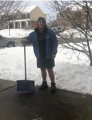 Last weekend, Monroe football players shoveled driveways throughout the community after a pay it forward challenge from head coach Bob Mullins.