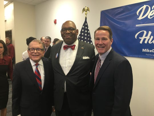 Ronald C. Todd II with Gov. Mike DeWine and Lt. Gov. Jon Husted.