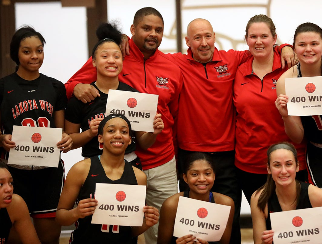 Lakota West head coach Andy Fishman collected his 400th win over the Princeton Vikings Wednesday, Jan. 16, 2019.