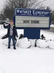 Noah Anderson is back at school after a cardioverter defibrillator implant last week.