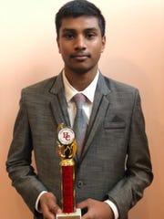 Akshat Parthiban won third place in the Congressional debate.