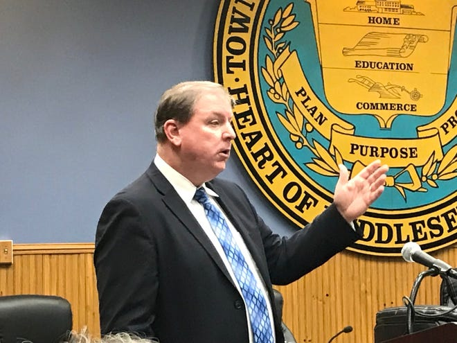 State Sen. Joseph Cryan, who is executive director of the Middlesex County Utilities Authority,   discussed the Middlesex County Landfill at a forum in East Brunswick in January.