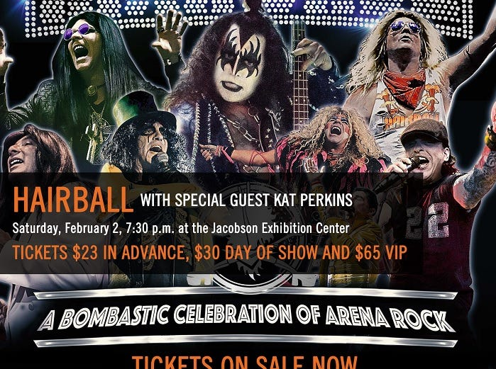 Win 4 tickets to the Hairball featuring Kat Perkins at the Iowa State Fair on Saturday, Feb. 2, 2019