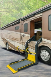 Winnebago Industries' Forza 34T AE is pictured here. It's among three new wheelchair-friendly models introduced at the 2019 Florida RV Supershow.