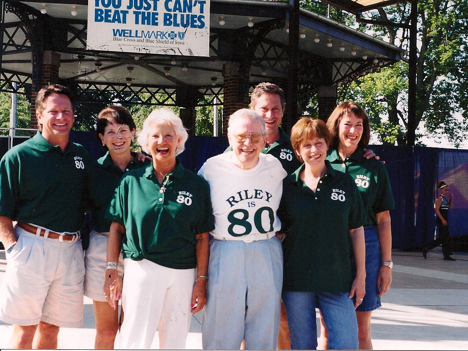 The Riley family including Bill Sr. (white shirt) and Bill Jr. (left). Bill Sr. was a 2004 the Iowa Rock 'n Roll Music Association Hall of Fame inductee and Bill Jr. is a 2019 selection.