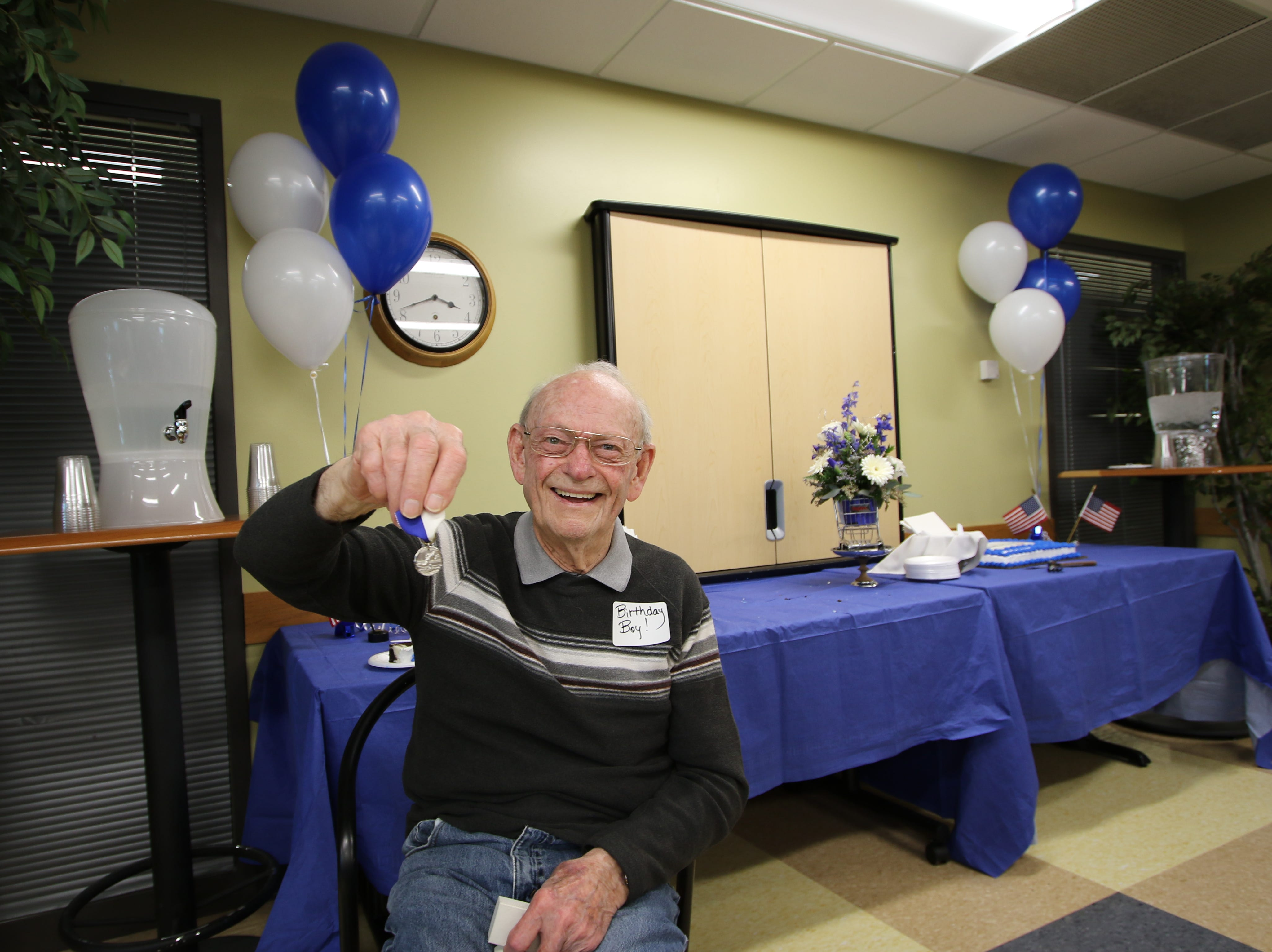 After 75 years, this 93-year-old WWII veteran finally got to hold his 1944 Drake Relays medal