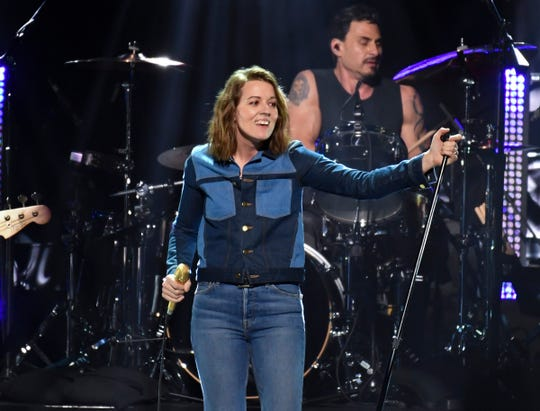 """Brandi Carlile performs with Audioslave at the """"I Am The Highway: A Tribute to Chris Cornell"""" honoring the late Soundgarden singer at The Forum in Inglewood, CA on Wednesday, January 16, 2019."""