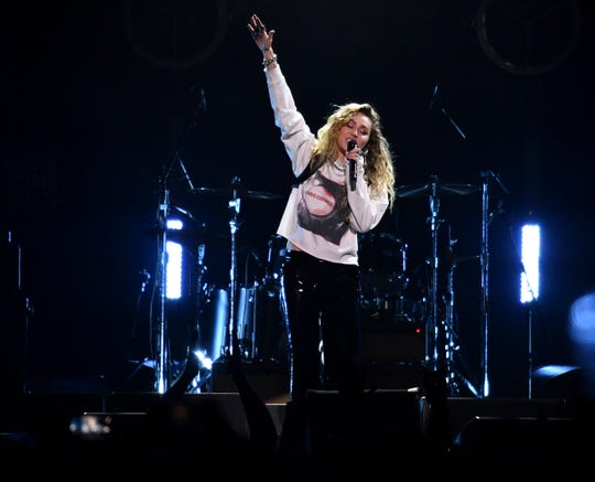 "Miley Cyrus performs at the ""I Am The Highway: A Tribute to Chris Cornell"" honoring the late Soundgarden singer at The Forum in Inglewood, CA on Wednesday, January 16, 2019."