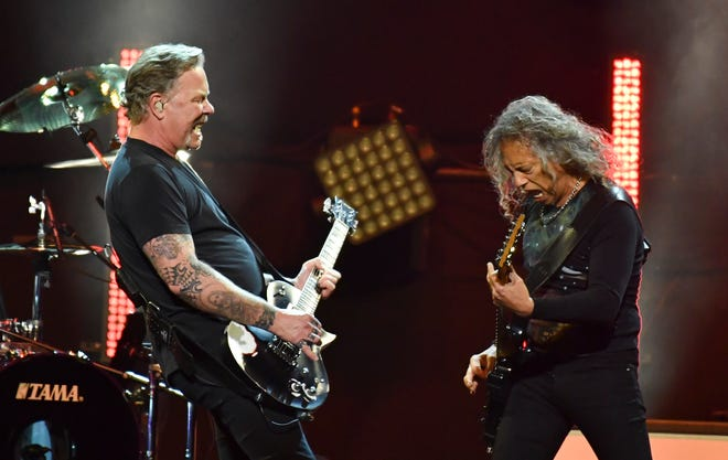 """Metallica perform at the """"I Am The Highway: A Tribute to Chris Cornell."""" The show's title was taken from a 2002 song from his band Audioslave."""