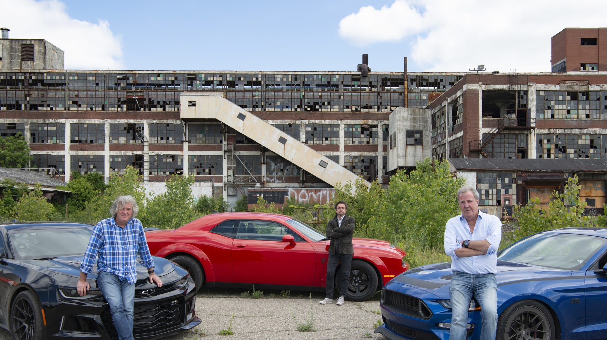 The Amazon Prime series 'The Grand Tour' visits Detroit in its season opener, a lovefest for muscle cars by British hosts.