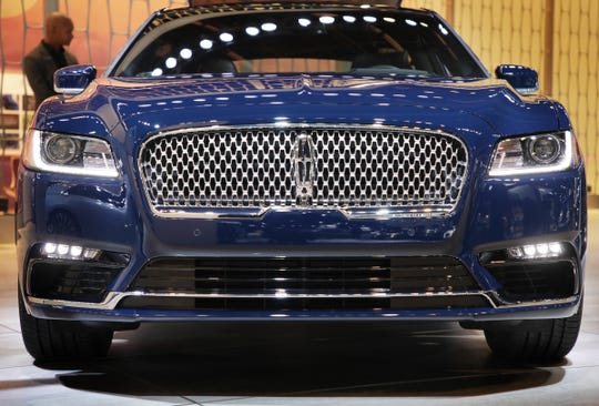 The Lincoln Continental Reserve at the 2019 North American International Auto Show held at Cobo Center in downtown Detroit on Monday, Jan. 14, 2019.