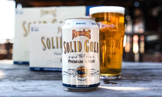Solid Gold Premium Lager by Founders Brewing Co. is pictured.