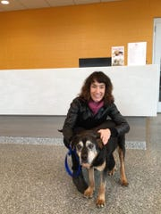 Taffy, an older dog with two bad knees, found a new family in December to care for her.