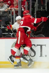 The Red Wings and Flames already have met once this month, with Calgary earning a 5-3 victory at Little Caesars Arena.