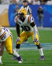 ESPN NFL draft analyst Mel Kiper Jr. has the Lions selecting LSU linebacker Devin White in the first round in his first mock draft.