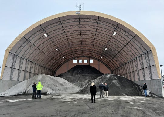 Town of Catlin officials dedicated a new salt barn Thursday just in time for this weekend's expected snowstorm.