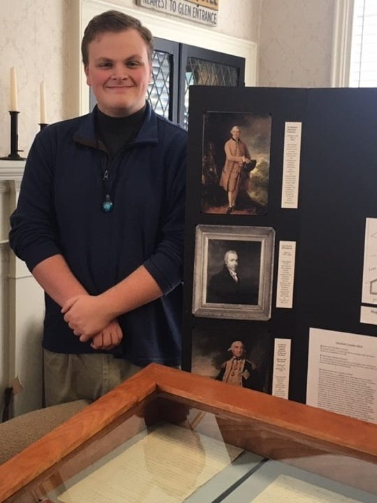 Griffin Bates, of Bath, created an Eagle Scout project about the 1700s exploration and European settlement of this region. His display is at the Schuyler County Historical Society's Brick Tavern Museum through Feb. 14.