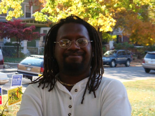 Rudy Guthrie stands outside Bayard Park Library on Nov. 4, 2008.