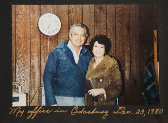 A 1980 photo of Fernando Tovar's parents, Jorge and Luz, of Mercury Marine.