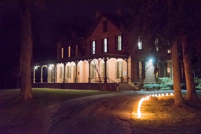 Celebrate Valentine's Day  during a special evening tour of the Hayes Home.