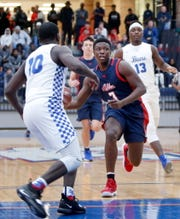 Allen High School's Isaiah Stevens (3) drives during a game in December. Stevens, a CSU signee, was the starting point guard for Allen's Class 6A Texas state title a year ago and has the Eagles ranked in the top-five this season.