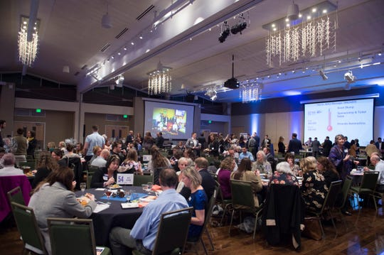 People attend a celebration for the United Way of Larimer County's 60th anniversary at CSU on Wednesday, January 16, 2019.