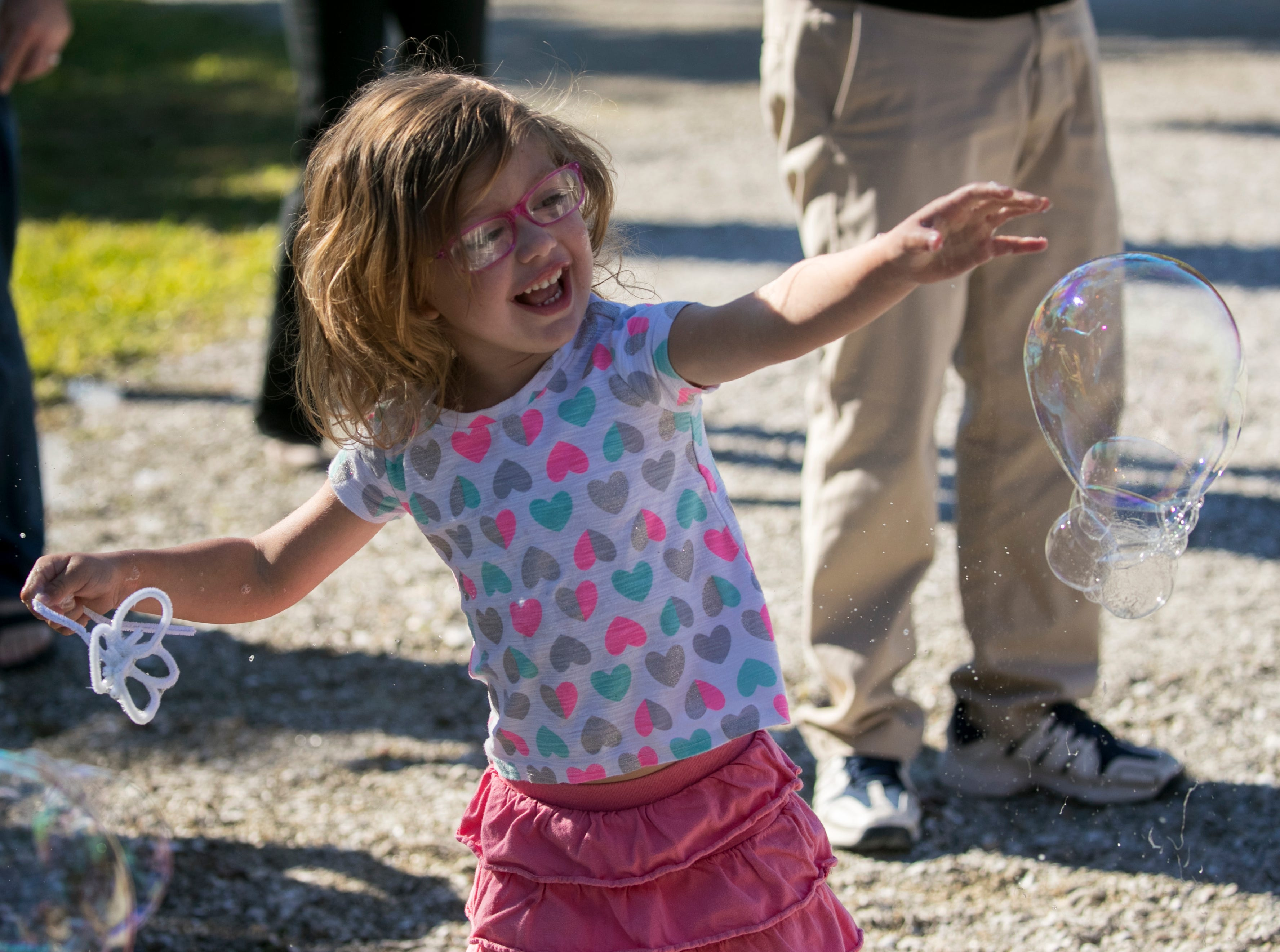 Devan Kuntz, 3, chases bubbles during the monthly Emerging Inventors program on Thursday, January 17, 2019, at the Edison & Ford Winter Estates in Fort Myers. This month's program was called Bouncing Bubbles. The next program, which is for children 5 and younger, is February 21 at 9:30 am, and is called is LEGO Art and Engineering.
