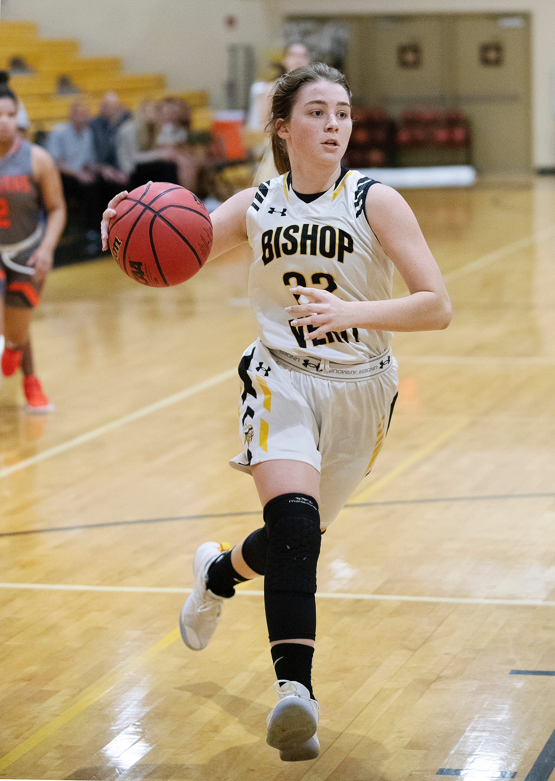 Bishop Verot High School's Claire Woolam drives to the basket against Lely on Wednesday at Bishop Verot in Fort Myers.
