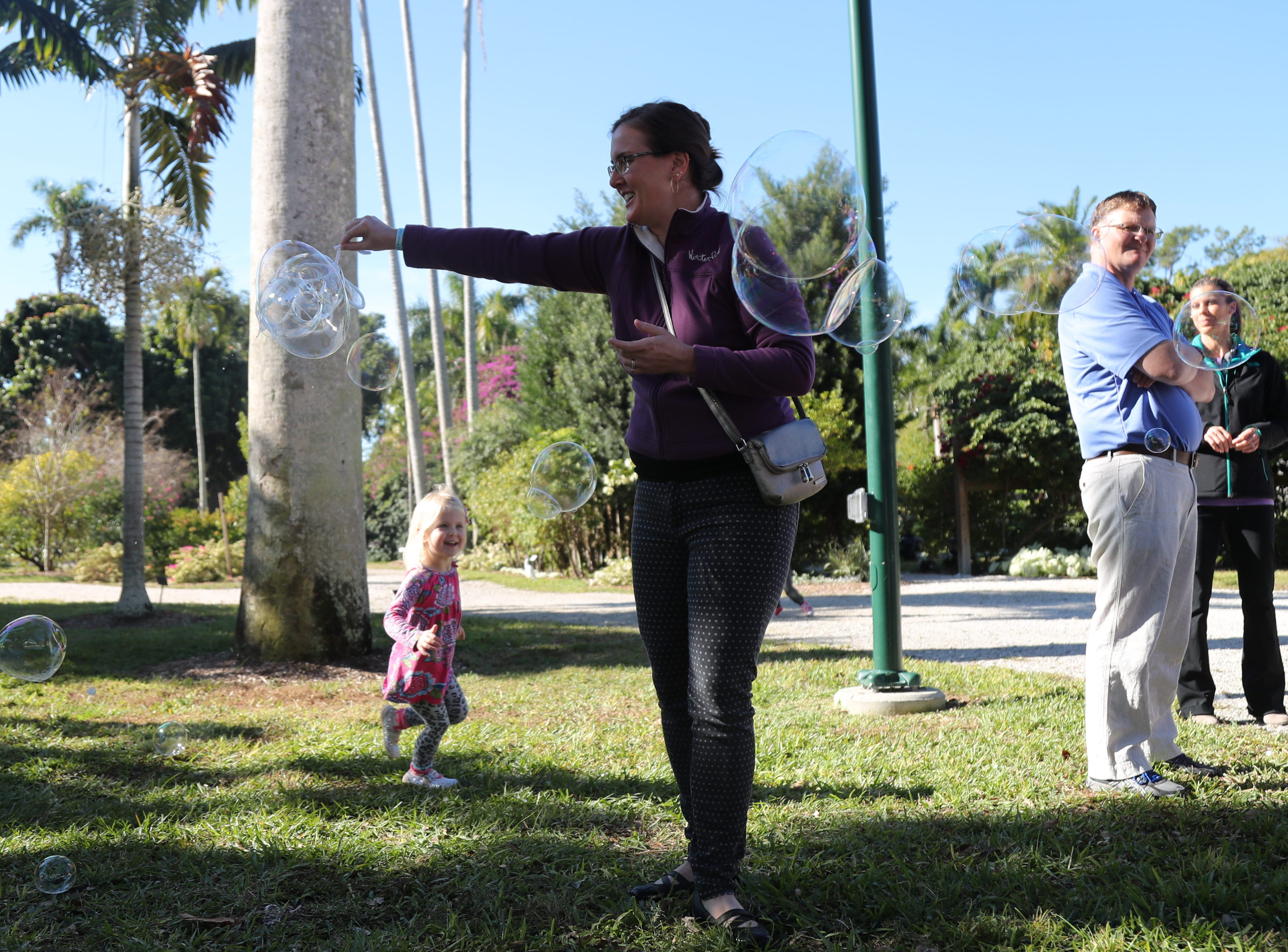 Kids and their parents gathered to learn about the science of bubbles during the monthly Emerging Inventors program on Thursday, January 17, 2019, at the Edison & Ford Winter Estates in Fort Myers. This month's program was called Bouncing Bubbles. The next program, which is for children 5 and younger, is February 21 at 9:30 am, and is called is LEGO Art and Engineering.