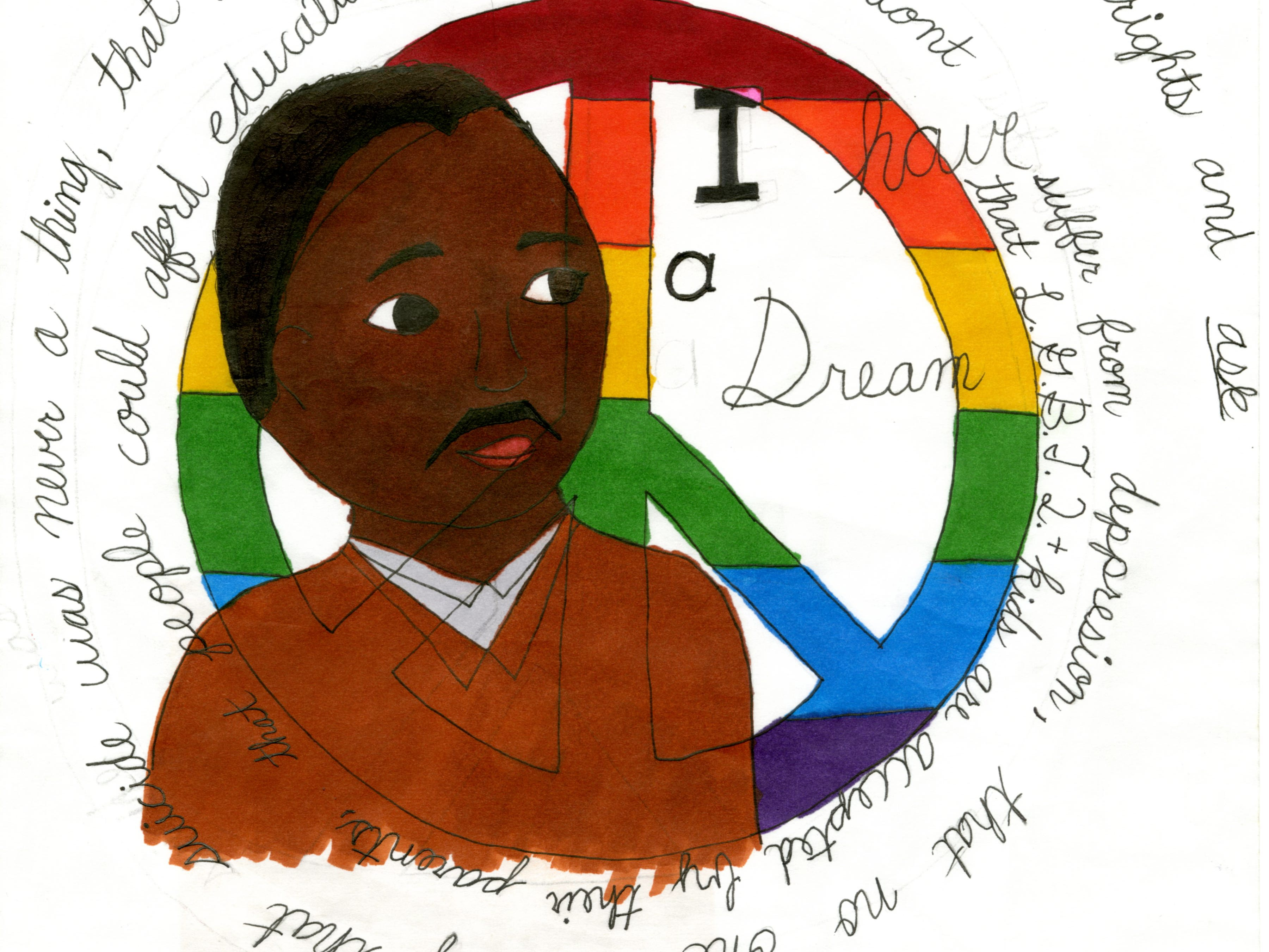 Olivia Schmidt, grades 4-6, honorable mention, Essay-Poster-Poetry contest as part of the 24th annual Martin Luther King Jr. Community Celebration.
