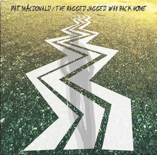"""The cover art for pat mAcdonald's new album, """"The Ragged Jagged Way Back Home."""""""