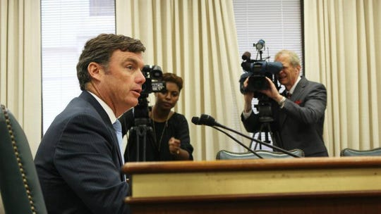Bryan Stirling, director of the S.C. Department of Corrections, addresses a Senate panel on Thursday about recent high-profile incidents at the agency.