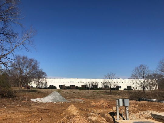 The site of a Fuyao North America's new processing center in Fountain Inn is pictured on Thursday, Jan. 17, 2019.  A vacant building currently sits on the property at 110 Milacron Drive.