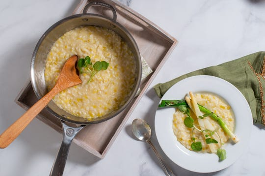 Champagne risotto traditionally takes up to 45 minutes and lots of stirring but a pressure cooker makes this dish practically hands off.