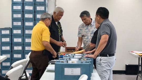 Commissioners and staff for the Guam Election Commission on Thursday start manual tabulation and recording of write-in votes, as required by law, in some 8,800 ballots in the general elections and some 770 in the primary races.