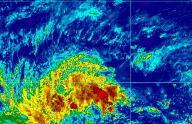 A disturbance south of the Marianas is expected to bring rough seas to the area in the next few days.
