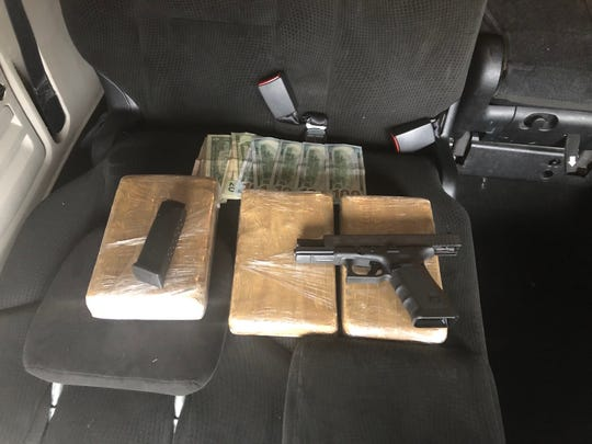 An Alabama man was arrested Thursday, Jan. 17, 2019, during a traffic stop on Interstate 59 in Lamar County. H was found in possession of 3 kilograms of cocaine, a handgun and some cash.