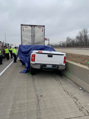 Olivia Kustes, 18, Rineyville, Ky., was killed after a tire broke from a pickup truck and struck her vehicle on I-65 in southern Indiana Wednesday, Jan. 16, 2019.