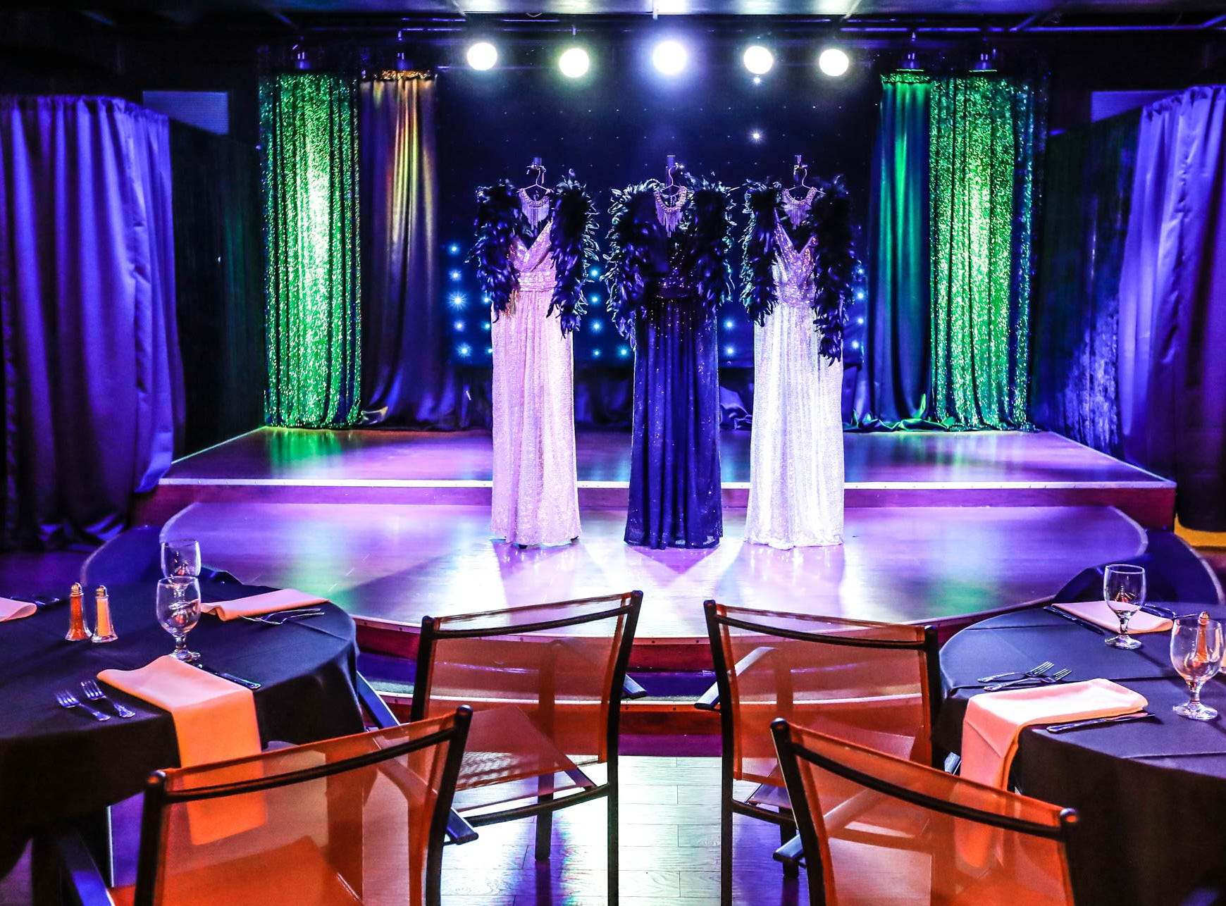 Mood and stage lighting set the scene at  Stage To Screen's Catered Cabaret Theatre, 350 S. Madison Ave., Greenwood Ind. on Thursday, Jan. 17, 2019. The theatre was originally named Stage To Screen Studios, but has since evolved into the Cabaret Dinner Theatre.