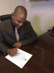 Jackson Councilman De'Keither Stamps files paperwork to run as a candidate for the Public Service Commissioner for the Central District position.