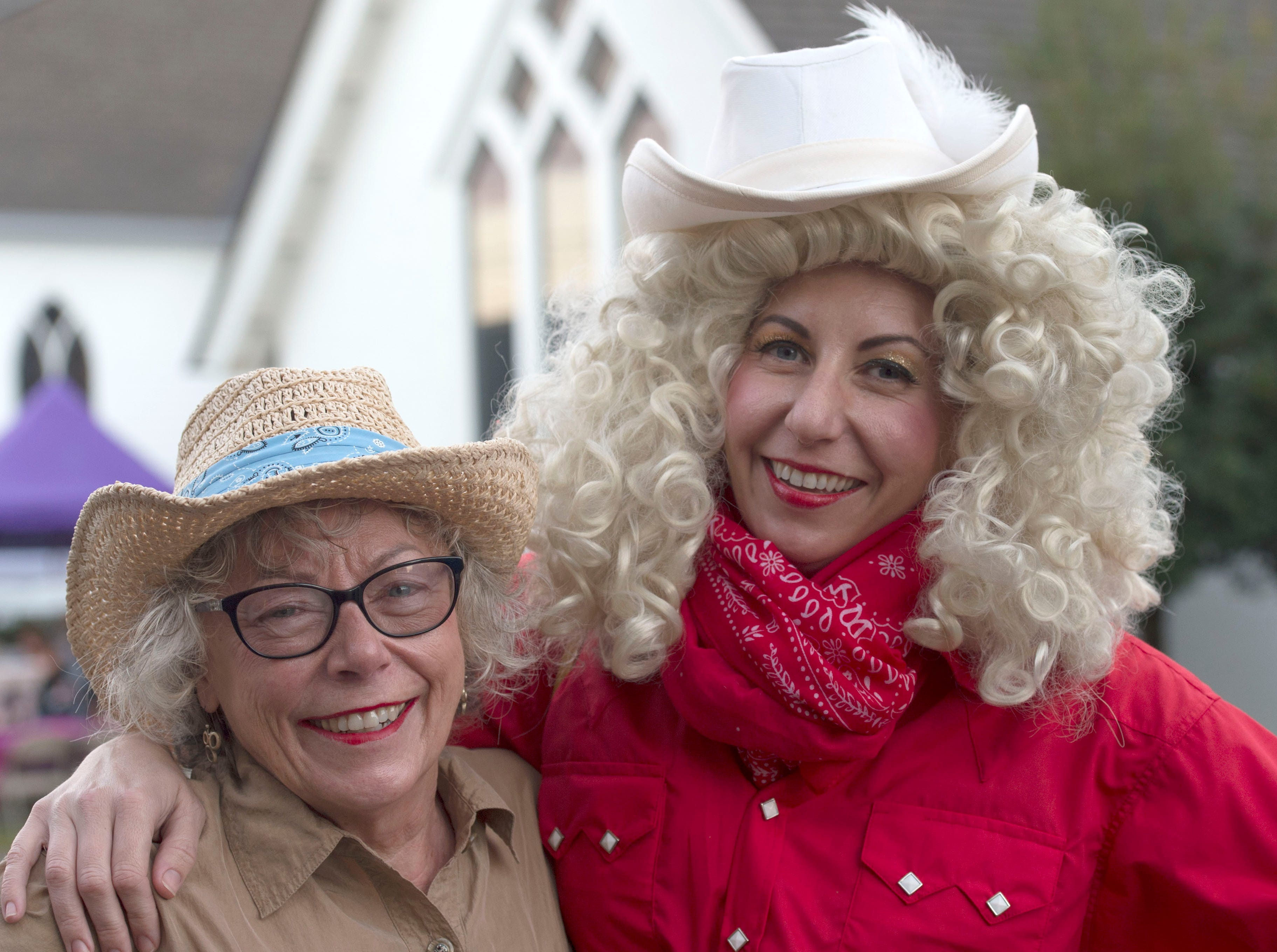 Judy Norris (left) and Kerry Maloney (right) mother-daughter Dolly Parton fans attend the 4th annual Dolly Should festival together in Bay St. Louis. Saturday, Jan. 12, 2019