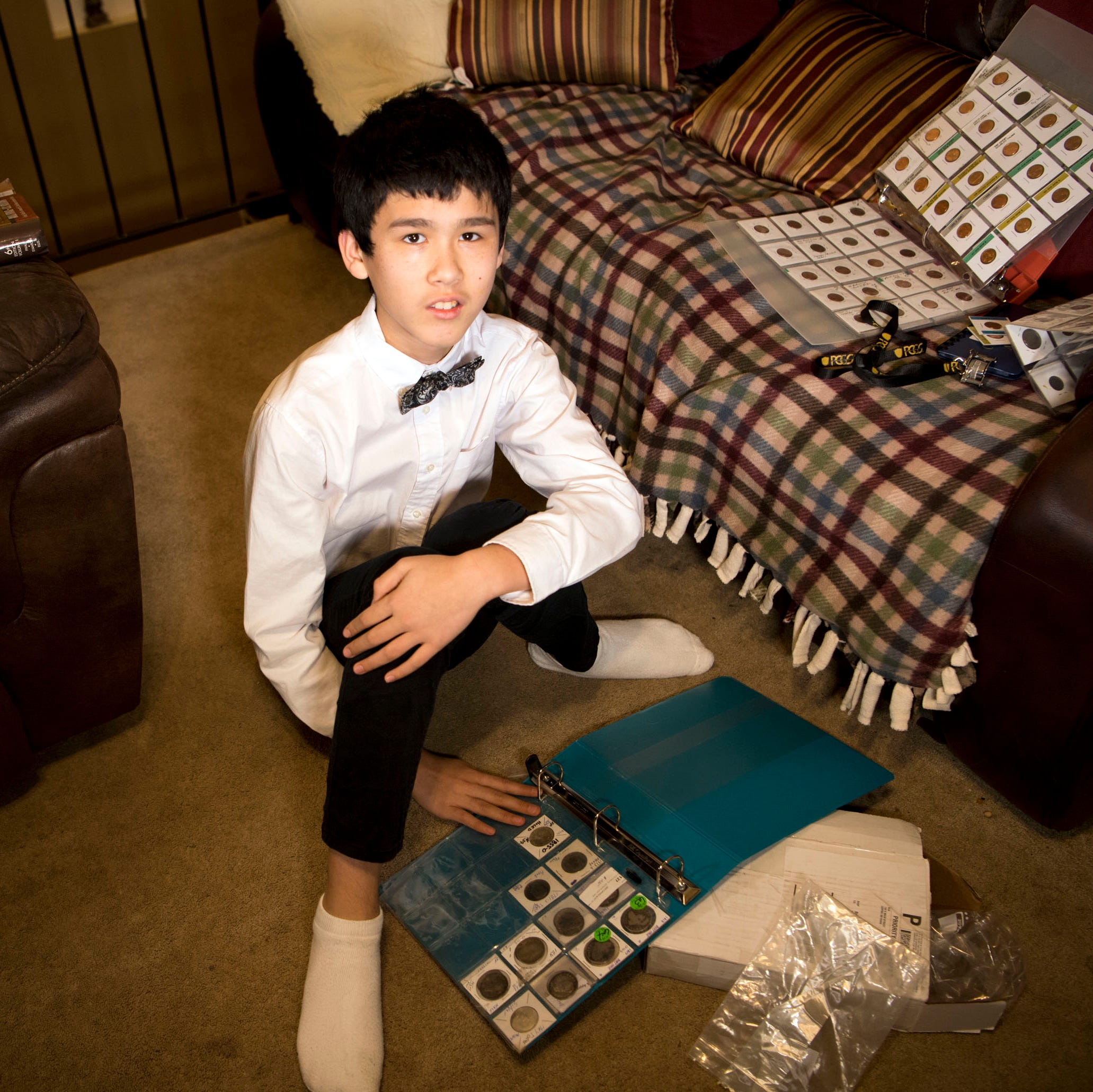 Knoxville 11-year-old takes coin collecting obsession to expert level