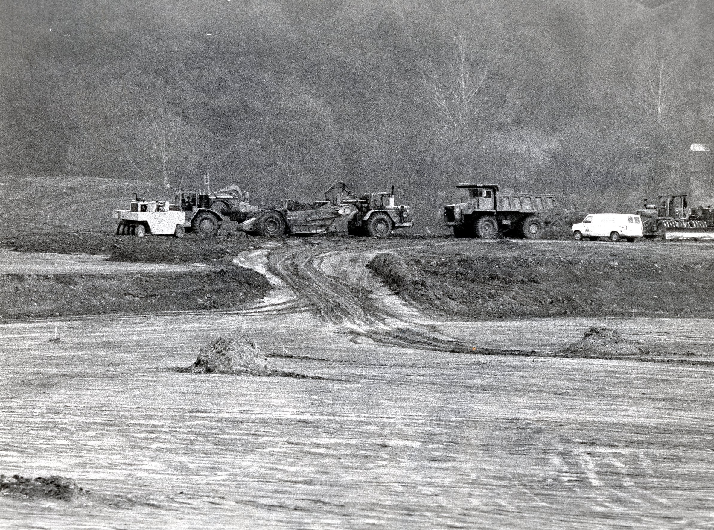 Ground breaking at East Towne Mall, January, 1983.
