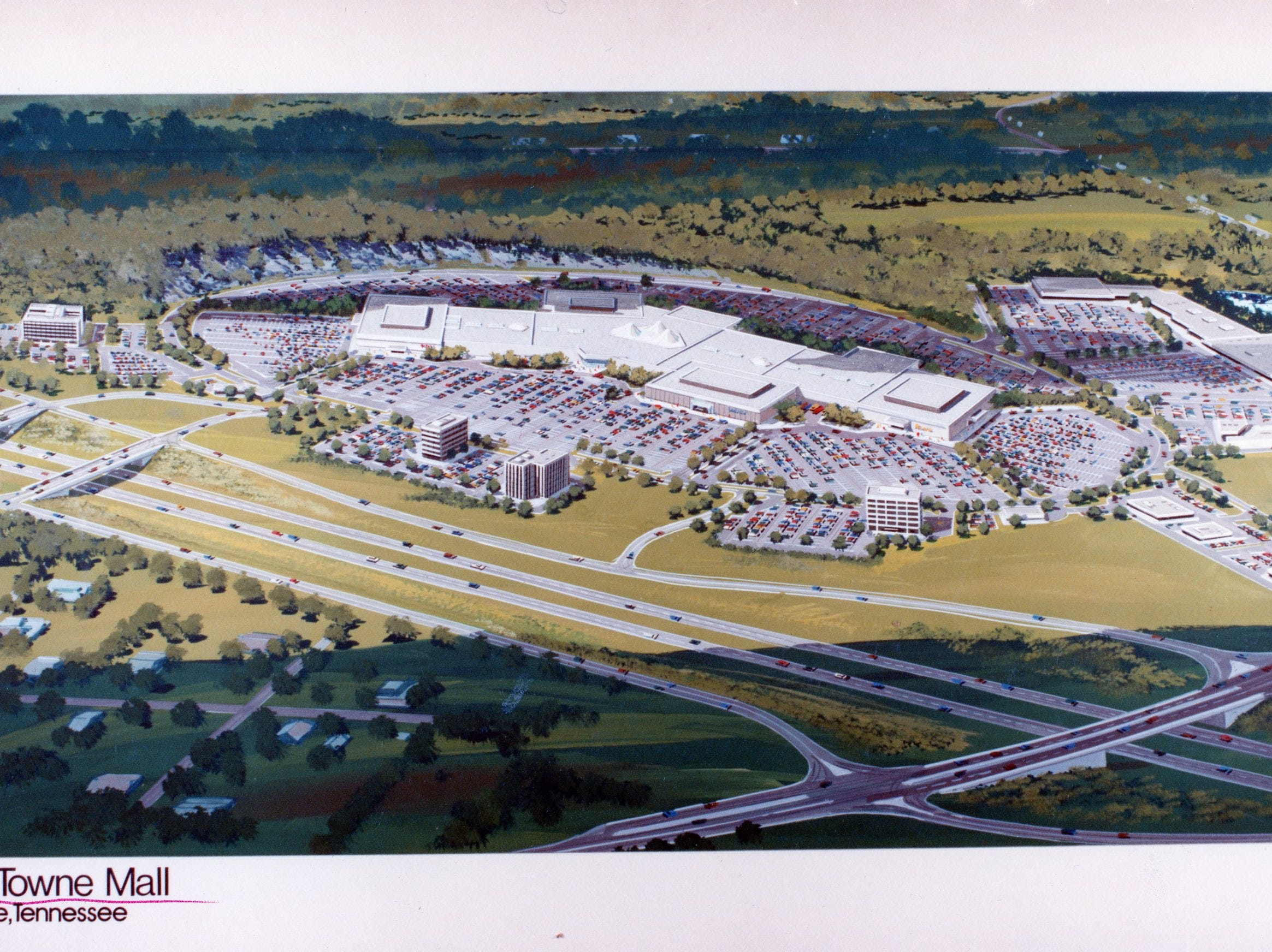 A rendering of the proposed East Towne Mall, November, 1982.