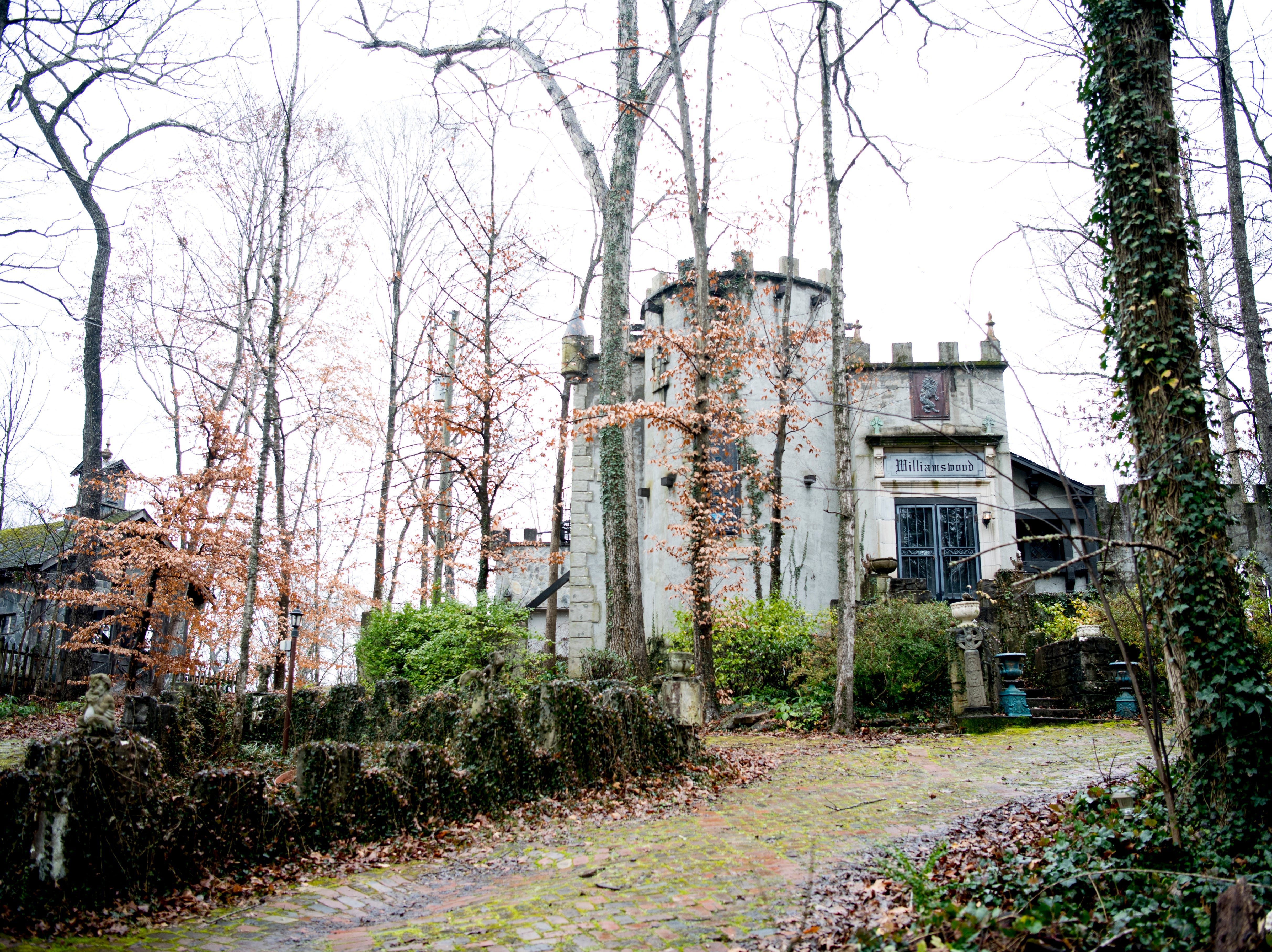 Williamswood Castle in South Knoxville, Tennessee on Thursday, January 17, 2019. The home, modeled after a medieval castle, was built by Julia Tucker in 1991 and took 6 years to complete. Many of the items in the home were sourced from around the Knoxville area.