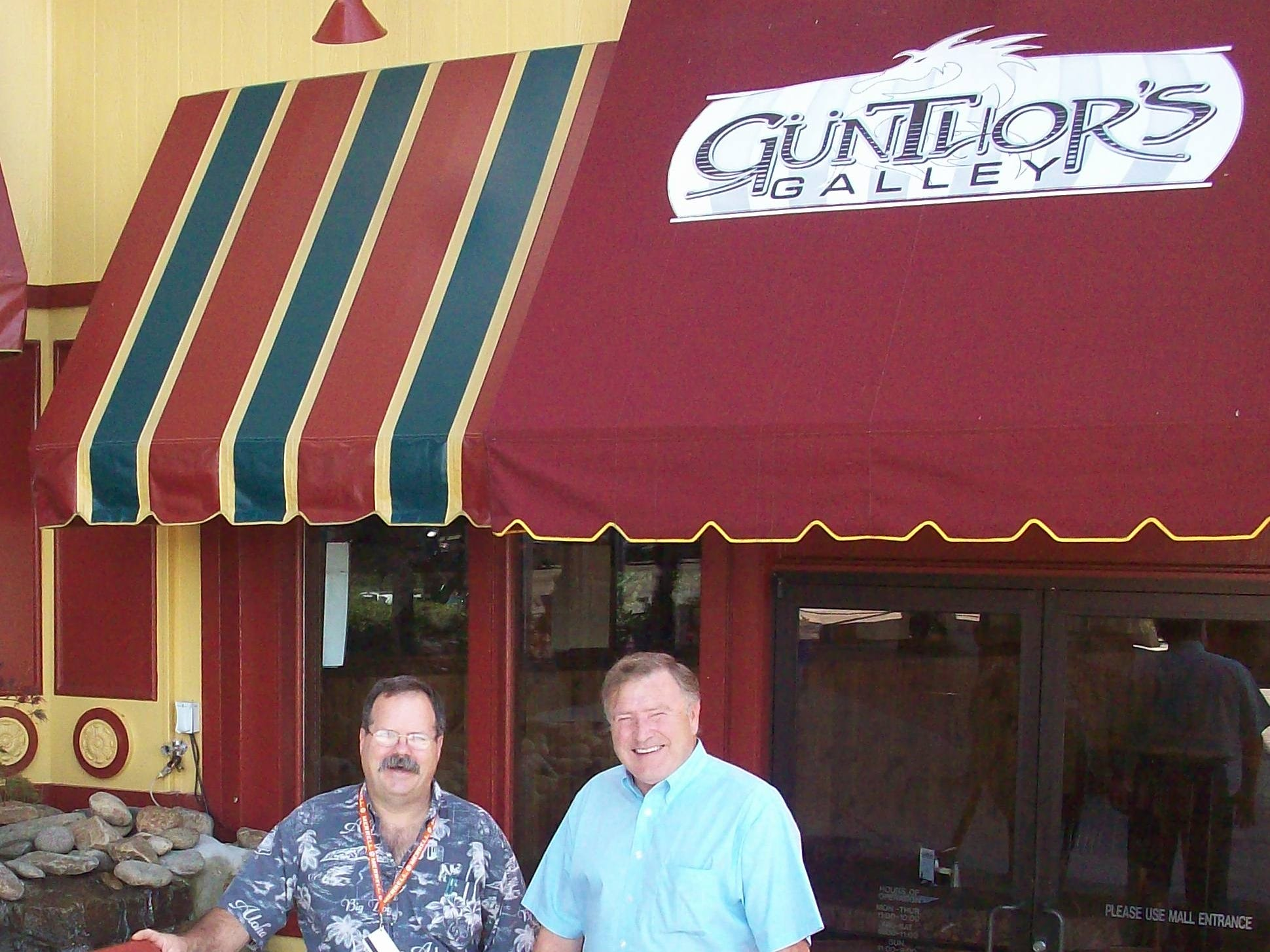 Co-owners Curtis Petree and John Candlish stand in front of Günthor's Galley in Knoxville Center Mall.M. Cannon