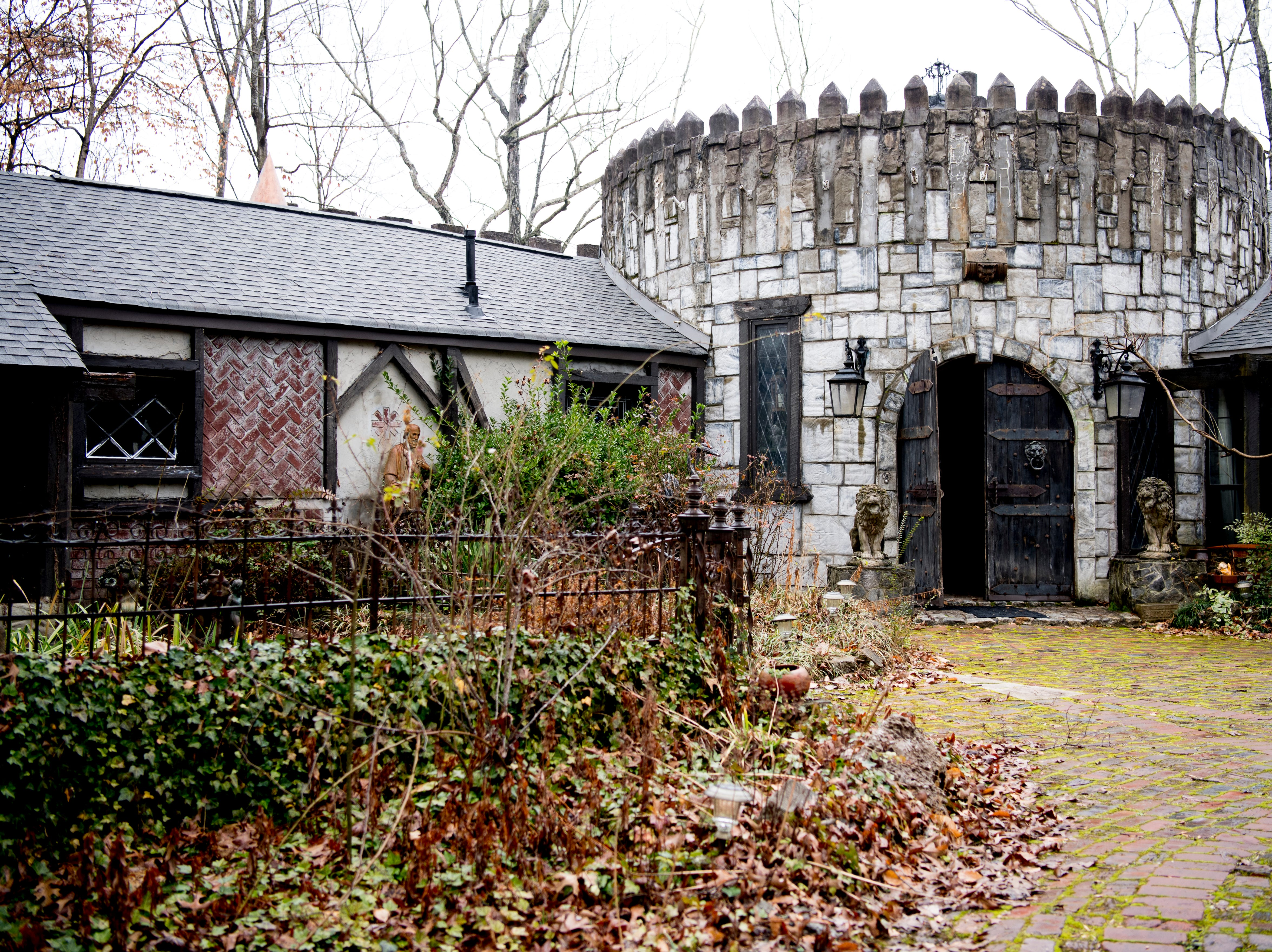 The main entrance at Williamswood Castle was once the main archway to the former Young High School in South Knoxville. Many of the items in the home were sourced from the Knoxville area. In 2019, the castle was listed on Airbnb.