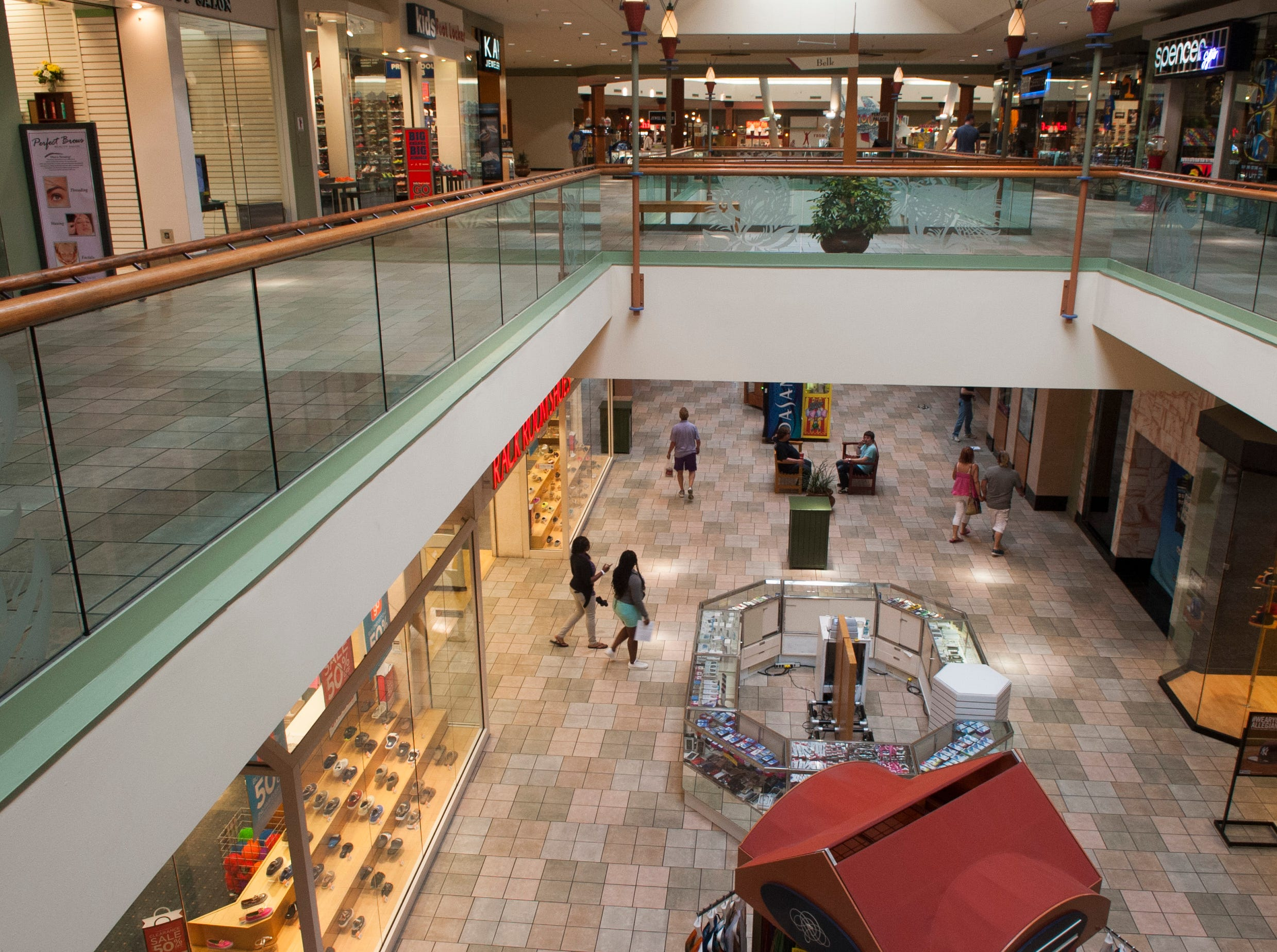 An effort is underway to rejuvenate Knoxville Center Mall and the surrounding area including new signage, vegetation management and new business organization. The mall has suffered over the years from a loss of businesses and shoppers and Simon Properties had the property on the market for sale last year. ( J. MILES CARY/NEWS SENTINEL )